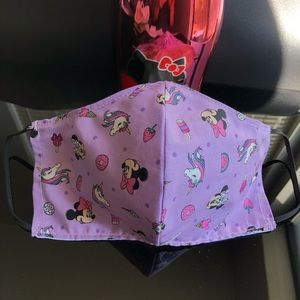 Accessories - Disney 100% Cotton Fabric Minnie Mouse Face Mask